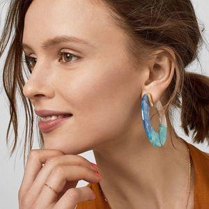 Jewelry - 'Watercolor' Acrylic Tortoise Shell Stud Earrings